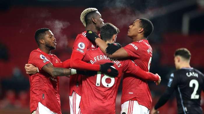 Manchester United Aston Villa'yı yendi, zirvenin ortağı oldu: 2-1