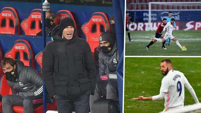 Osasuna 0-0 Real Madrid: Zidane'ın öğrencileri puanları saçmaya devam ediyor