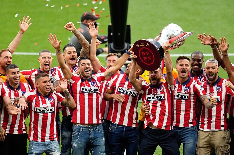 Atletico Madrid kupasını aldı
