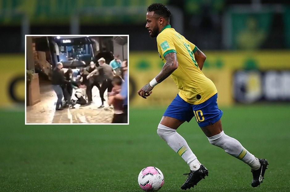 Neymar'a milli takım kampında saldırı!