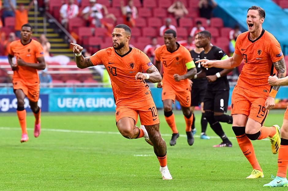 Avusturya'yı iki golle geçen Hollanda son 16 turunda